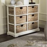 Beachcrest Home™ Santa Cruz Solid Wood 6 - Drawer Accent Chest Wood in White, Size 29.5 H x 32.1 W x 13.4 D in   Wayfair BCMH3247 43208264