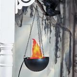 The Holiday Aisle® Hanging Flame Party Light Halloween Decoration - Halloween - Decorative Accessories - 1 Piece in Black | Wayfair