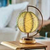 Red Barrel Studio® Pendulum Orb Table Lamp Orange (Guyabano) Metal in Green, Size 14.0 H x 10.0 W x 8.0 D in   Wayfair