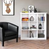 Latitude Run® SIMPLIHOME Artisan SOLID WOOD 45 Inch X 43 Inch Contemporary 9 Cube Bookcase & Storage Unit In w/ 9 Shelves, For The Living Room