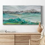 Rosecliff Heights Marble Seas- Premium Gallery Wrapped Canvas - Ready To Hang Metal in Brown, Size 20.0 H x 40.0 W x 1.0 D in | Wayfair