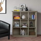 Latitude Run® SIMPLIHOME Artisan SOLID WOOD 45 Inch X 43 Inch Contemporary 9 Cube Bookcase & Storage Unit In White w/ 9 Shelves, For The Living Room