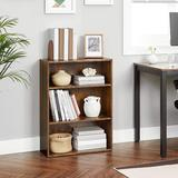 "Loon Peak® Bookshelf, Open Bookcase w/ Adjustable Storage Shelves, Floor Standing Unit, 23.6"", Rustic Wood in Brown, Size 31.5 H x 23.6 W x 9.4 D in"