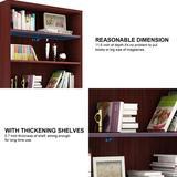 Latitude Run® Bookcase Wood Storage Bookshelf Open Shelf Bookcase Closed Back Shelves Book Case (5-Tier, Grey) Wood in Brown | Wayfair