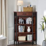 Red Barrel Studio® Rinke Furniture, Incorporated Ironcraft Bookcase & Shelves, Medium Oak in Brown, Size 50.0 H x 36.0 W x 12.5 D in | Wayfair