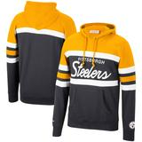 Men's Mitchell & Ness Gold Pittsburgh Steelers Head Coach Pullover Hoodie