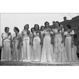History Galore 24X36 Gallery Poster, Beauty Pagent Contestants At National Rice Festival, Crowley, Louisiana, 1938 in Brown   Wayfair welsh2223