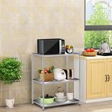 Orren Ellis Kitchen Storage Shelves Floor Multilayer Microwave Oven Stainless Steel Shelf, Size 29.5 H x 23.6 W x 13.7 D in | Wayfair