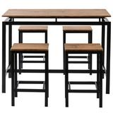 17 Stories 5-Piece Dining Table Set w/ 1 Table & 4 Chairs, Size 35.0 H in   Wayfair 747867416C874B95B57A48D56AB72126