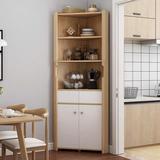 Latitude Run® Corner Bookshelf Corner Triangles Cabinet Shelf Living Room Storage Cabinet in Brown, Size 70.9 H x 17.7 W x 17.7 D in | Wayfair