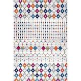 Foundry Select Moroccan Blythe Area Rug, 4' X 6' Oval in White, Size 48.0 W x 0.37 D in   Wayfair FD98815102614028A08CF672705C3184