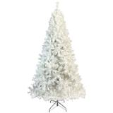 The Holiday Aisle® 7.4 Ft National Christmas Tree Hinged Spruce Full Tree, w/ 500 Led Lights in White, Size 88.6 H x 45.3 W in | Wayfair