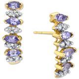 Tanzanite (3/4 Ct. T.w.) & Diamond (1/4 Ct. T.w.) Drop Earrings In 14k Gold - Metallic - Macy's Earrings