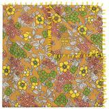 Floral-print Silk Neckerchief - Brown - Tory Burch Scarves