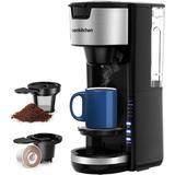 Bonsenkitchen Singles Serve 2 In 1 Compact K-Cup Coffee Maker in Black, Size 13.8 H x 6.0 W x 9.42 D in   Wayfair CM8901