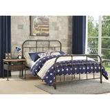 Leebrothers Nunez Iron Configurable 2 Piece Bedroom Set Metal in Gray, Size Full | Wayfair