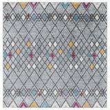 Union Rustic Runner Adey Southwestern Area Rug Polypropylene in Gray, Size 108.0 W x 0.31 D in | Wayfair 824719FD63D64C68A0EB74DC9C927FDB