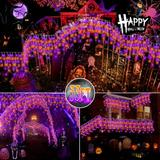 The Holiday Aisle® Halloween Lights Outdoor Decorations Lighting Modes Curtain Fairy String Light w/, Size 6.95 H x 3.84 W x 3.84 D in   Wayfair