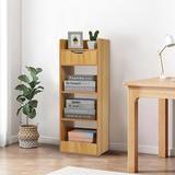 Ebern Designs 13.0 X 9.5 X 35.4 In Bookshelf Floor Bookcase Multi-Layer Household Storage Cabinet Bedroom Living Room Storage Shelf 5 Layers Wood