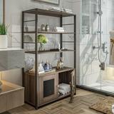 17 Stories Bookshelf Locker w/ Two Doors in Brown/Gray, Size 47.6 H x 26.7 W x 12.0 D in | Wayfair 8230E1530EF7441998EDCF9AC377A9C8