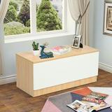 Latitude Run® Lift Top Entryway Storage Chest/bench w/ 3 Cube Organizer in Brown, Size 15.7 H x 35.4 W x 15.7 D in   Wayfair