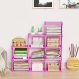 Rebrilliant 9-Cube Storage Organizer, DIY Adjustable Bookcase, Bookshelf w/ 9 Book Shelves, Home Furniture Storage in Pink | Wayfair