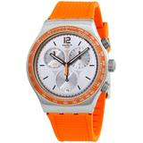 Chronograph Quartz Grey Dial Watch - Gray - Swatch Watches