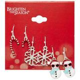 Brighten the Season 3-pc. Ornaments Earrings Set
