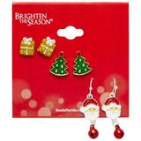 Brighten the Season 3-pc. Presents Earrings Set