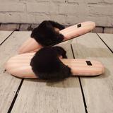 Victoria's Secret Shoes   Nwot! Victoria'S Secret Large Pink & White Wblack Faux Fur Slippers   Color: Black/Pink   Size: Large