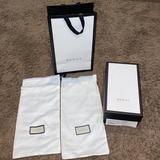 Gucci Storage & Organization   Gucci White Empty Shoe Box & 2 Dustbags Shopping Bag   Color: White   Size: Os