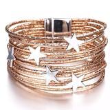 Free People Jewelry   Newstar Studded Boho Western Bracelet   Color: Gold/Silver   Size: Os