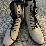 Michael Kors Shoes   Michael Kors Off-White And Black Combat Boots.   Color: Black/Cream   Size: 8.5