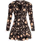 Floral Print Dress - Black - Ulla Johnson Dresses