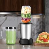 DGS Personal Size Blender 250 Watts Power For Shakes Smoothies Seasonings Sauces w/ 2 Pieces 16 Oz Mug -Silver in Gray | Wayfair B07RPZ8V6V