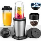 DGS 850W Personal Blender For Shakes & Smoothies, 11 Pieces Single Bullet Smoothie Blenders For Kitchen, Small Coffee Grinder w/ 2X17oz & 10Oz Trave