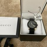 Gucci Accessories   Gucci G-Chrono Xl Chronograph Black Dial Leather Strap Men'S Watch Ya101203   Color: Black   Size: Os