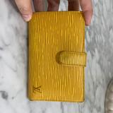 Louis Vuitton Bags | Louis Vuitton Yellow Epi Leather Wallet With Purple Interior | Color: Purple/Yellow | Size: French Purse Wallet