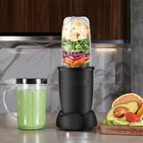 DGS Personal Size Blender 250 Watts Power For Shakes Smoothies Seasonings Sauces w/ 2 Pieces 16 Oz Mug -Silver in Black | Wayfair B07RPZTV9F