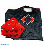 Disney Costumes | Disney Cruise Line Pirates Of The Caribbean Mickey Mouse Scarf Bandana And Cape | Color: Black/Red | Size: 4-6x