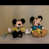 Disney Toys   Disneyland Resort Mickey & Minnie Mouse Cheerleader Plush Set   Color: Brown   Size: Os