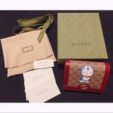 Gucci Bags | Gucci Doraemon Flap Card Case Wallet Mini Gg | Color: Red/Tan | Size: 4w X 3h X 1d