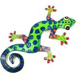 Bungalow Rose Metal Gecko Wall Decor in Green | Wayfair AAAEA292239D4455A290927CF507C7BB