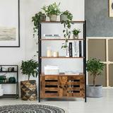 17 Stories Industrial Storage Shelf W/2 Shutter Doors, Size 47.5 H x 27.5 W x 12.0 D in | Wayfair 113A62B1AEA0431B85042380E67B00E7