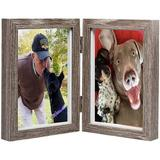 Gracie Oaks Wood Photo Frame: Picture Frame w/ Glass Front Studio Gallery Frames, Suitable For Standing Vertically & Wall Hanging in Gray | Wayfair