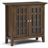 Red Barrel Studio® Storage Media Cabinet, 32 Inch, Dark Tobacco Wood in Brown, Size 31.0 H x 14.0 W x 32.0 D in   Wayfair