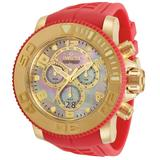 Invicta Sea Hunter Men's Watch w/Mother of Pearl Dial - 58mm Red (34782)