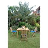 Windsor Comfort Chair 5-Piece Folding Dining Set - Anderson Teak Set-105B
