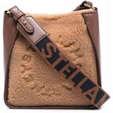 Stella Logo Teddy Shoulder Bag - Brown - Stella McCartney Shoulder Bags