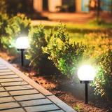 Biyori Solar Outdoor Garden Decorative Lights Orb Double Led Garden Lights Landscape Path Lights For Path Patio Yard Decoration, (2 Pcs Light)